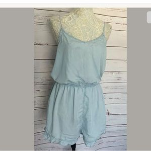 Cotton On Chambray Shorts Romper Jumpsuit